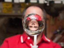 NASA Water bubble crew man