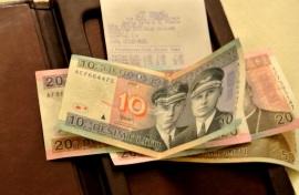 1a kvällen - notan betalas, 100 Litas