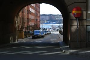Garvargatan - valvet mot N Mälarstrand