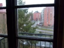 2009 Utsikt från trapphusfönstret Vinterg 12, 1a Advent