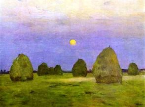 l Levitan Hay Stacks in Moonlight