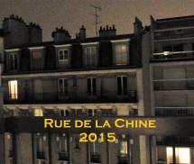 Utsikt tvärs över gatan på Rue de la Chine